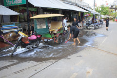 Pub Street is the centre of Siem Reap Royalty Free Stock Photos