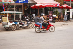 Pub Street - Downtown Siem Reap, Cambodia Royalty Free Stock Images