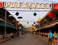 Pub Street the heart of the tourist area Siem Reap royalty free stock images