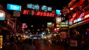 Pub Street, Siem Reap, Cambodia Royalty Free Stock Images