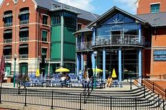 Pub sul molo del canale, Nottingham fotografia stock