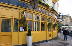 The pub Sun in splendour, London, United Kingdom. London, England-November 13,2016 : The pub Sun in splendour located in Notting hill district, on Portobello royalty free stock images