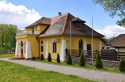 Pub Tavern at the pier in Grodno. Belarus Stock Photography