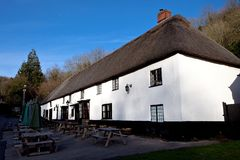 Pub in a thatched roof house Stock Image