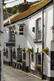 Pub viejo en Polperro, Cornualles Foto de archivo