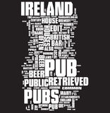 Pub word collage stock images