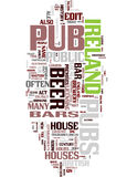 Pub word collage Royalty Free Stock Photos
