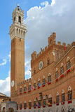 Pubblic slott för Il i piazzaen del campo, Siena Royaltyfri Fotografi