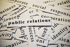 Pubbliche relazioni, PR Fotografia Stock