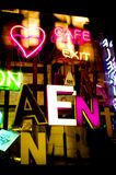 Pubblicità al neon Immagine Stock Libera da Diritti