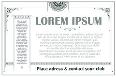 Pubblicità, aletta di filatoio, web, nozze ed altri inviti o cartoline d'auguri Modello di vettore Fotografie Stock Libere da Diritti