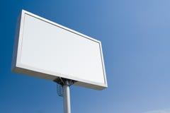 Pubblicità bianca del tabellone per le affissioni immagini stock libere da diritti