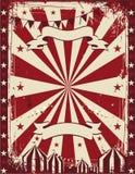 Pubblicità d'annata del fondo del manifesto del circo Fotografie Stock Libere da Diritti