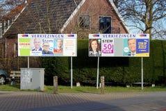 Pubblicità dei segni di elezione generale dell'olandese 2017 Fotografia Stock