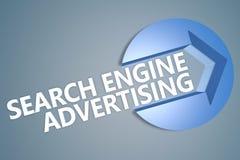 Pubblicità del motore di ricerca Fotografia Stock
