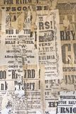 Pubblicità dell'annata. Fotografia Stock Libera da Diritti