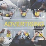Pubblicità dell'introduzione sul mercato commerciale Digital che marca a caldo concetto Fotografia Stock Libera da Diritti