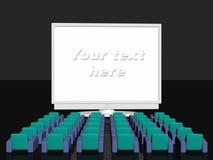 Pubblicità della stanza, schermo in bianco Fotografia Stock Libera da Diritti