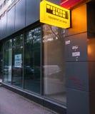 Pubblicità della Western Union Fotografia Stock