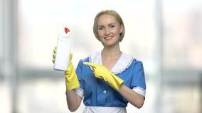 Pubblicità detergente della bottiglia archivi video