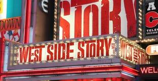Pubblicità di esposizione del Broadway Fotografia Stock Libera da Diritti