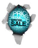 Pubblicità di sconto di vendita Fotografia Stock