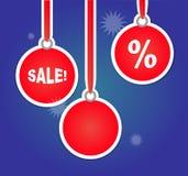 Pubblicità di vendite di Natale con le lampadine Fotografia Stock