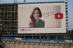 Pubblicità di Youtube fotografia stock