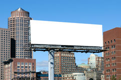 Pubblicità esterna con la priorità bassa urbana Fotografia Stock