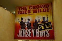 Pubblicità Las Vegas, Nevada dei ragazzi del Jersey Fotografie Stock Libere da Diritti