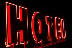 Pubblicità leggera per l'hotel Fotografia Stock