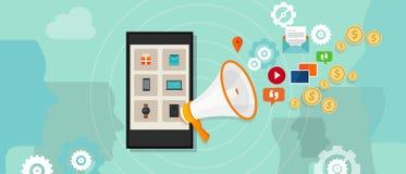 Pubblicità on line pagata di promozione digitale Immagini Stock
