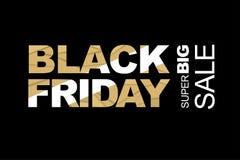 Pubblicità nera di venerdì Immagini Stock