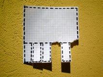 Pubblicità sulla parete Fotografia Stock