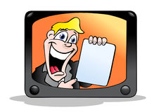 Pubblicità televisiva Immagini Stock Libere da Diritti