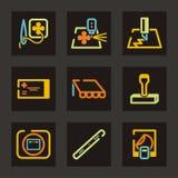 Pubblicità della serie dell'icona Fotografie Stock Libere da Diritti