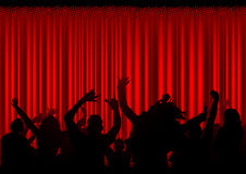 Pubblico ad un concerto Immagini Stock