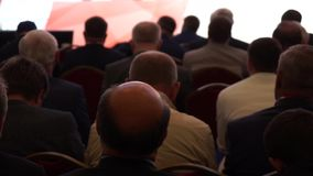 Pubblico alla conferenza stock footage