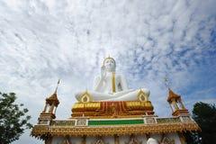 Pubblico bianco di Buddha Fotografie Stock
