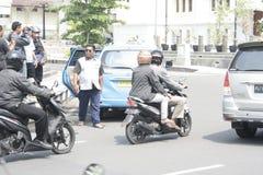 Pubblico di aumento di tariffa del veicolo dei rifiuti di azione di protesta degli automobilisti Fotografie Stock Libere da Diritti