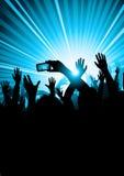 Pubblico di concerto di musica Immagini Stock