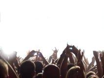 Pubblico di concerto di roccia Immagine Stock