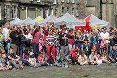 Pubblico di festival della frangia a Edimburgo fotografie stock libere da diritti