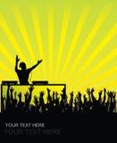 Pubblico incoraggiante del DJ Fotografia Stock Libera da Diritti