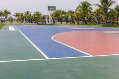 Pubic basketball court Royalty Free Stock Images