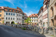 Pubic bicycle parking station with countless bikes at Bamberg, G Stock Photography