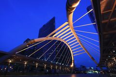 Pubic skywalk bridge Stock Image