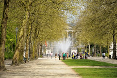 Public activities in Parc of Brussels during annual Day of Iris Royalty Free Stock Image