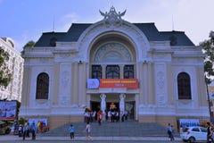 Public activity at Ho Chi Minh City Opera house, VietNam Royalty Free Stock Photo