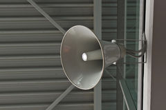 Public address. Announcement system in a airport Stock Images